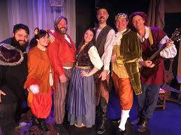 The marvelously talented cast of  Puss in Boots , at the Bartell.