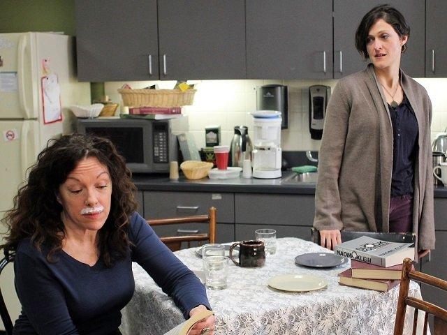 "Jamie England and Samara Safarik in KRASS's production of ""Body Awareness."""