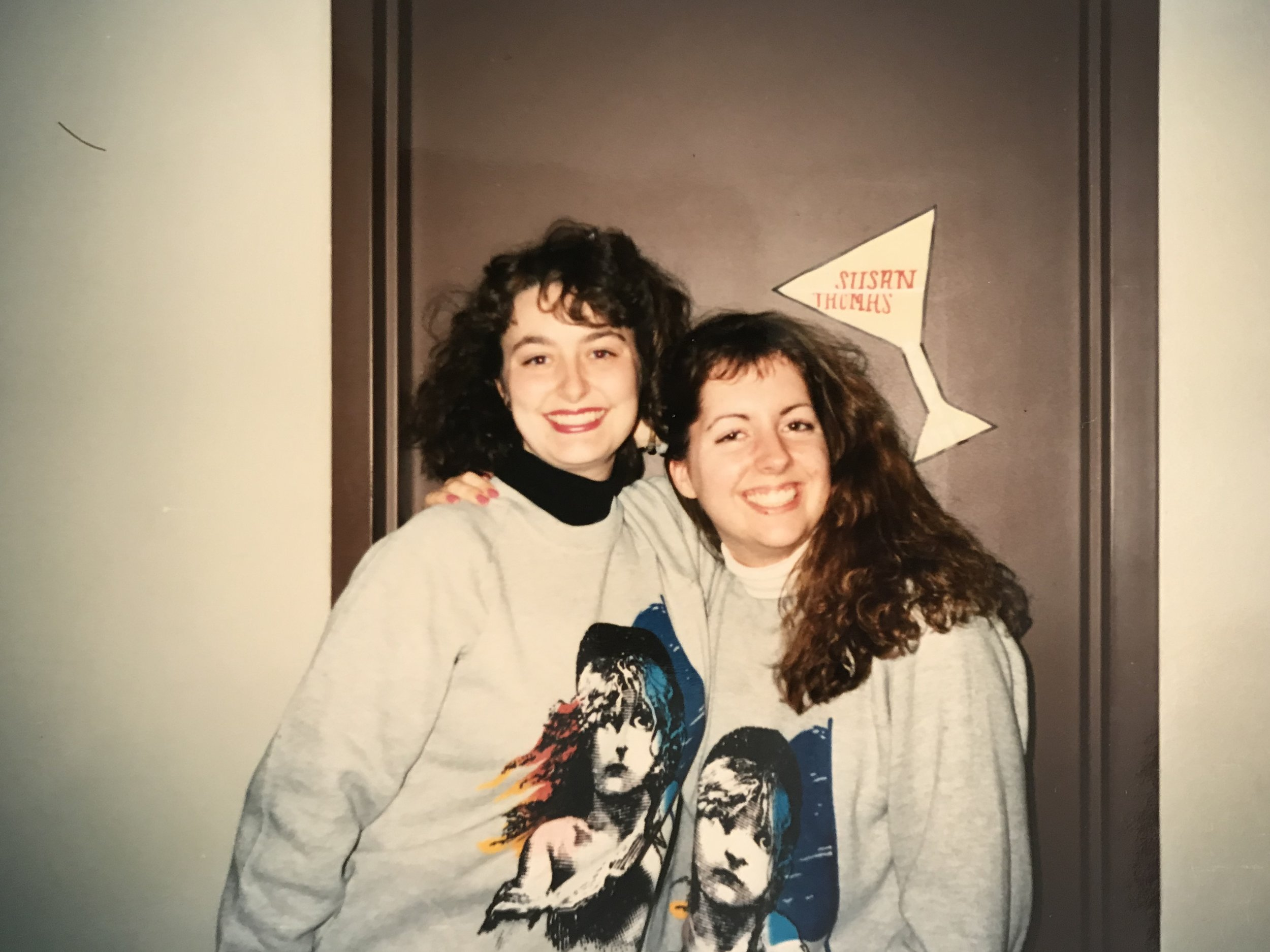 Me and my roommate Susan at the University of Iowa, 1990.