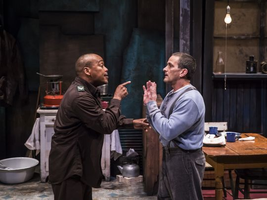 """Gavin Lawrence and James DeVita in APT's production of """"Blood Knot."""""""