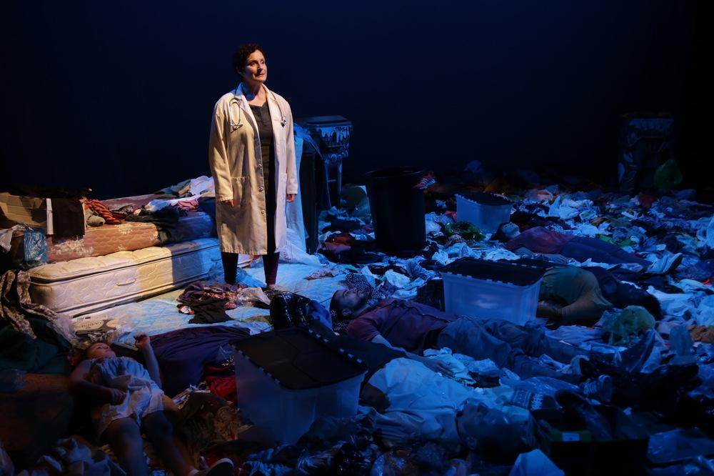 Laura Gordon in Theatre LILA's Trash.