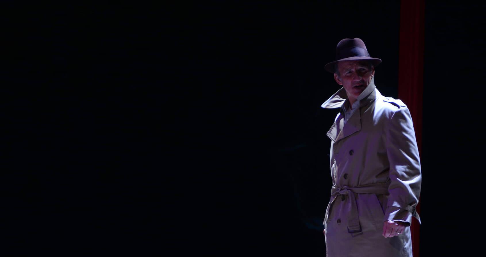 Michael Herold in Theatre LILA's Suitcase Dreams.