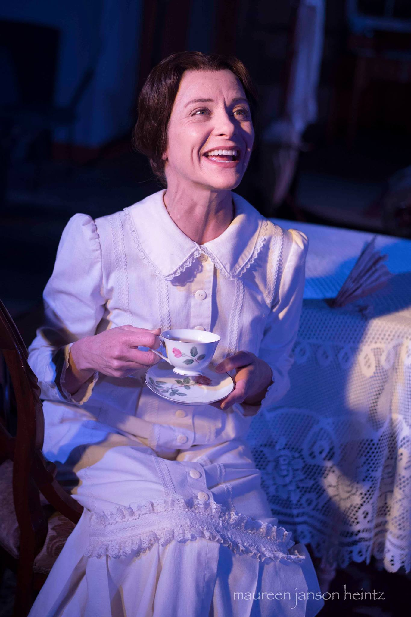 "Tracy Michelle Arnold as Emily Dickinson in ""The Belle of Amherst."" Photo by Maureen Janson Heintz."