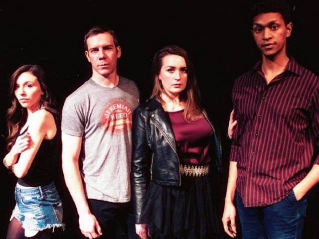 The cast of MTM's  Murder Ballad . Amanda Rodriguez, Andrew Lonsdale, Hannah Ripp-Dieter, and Sean Anthony Jackson. Through March 9 at the Brink Lounge.