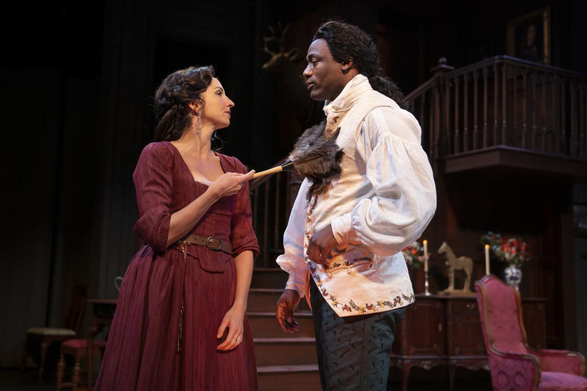 Young Marlow (Jamal James) and Kate (Laura Rook) have an unorthodox, and very funny, courtship.