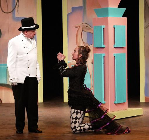 Photo by Michelle Owczarski. Robert Spencer as Duke Solinus, Katherine Norman as Adriana.