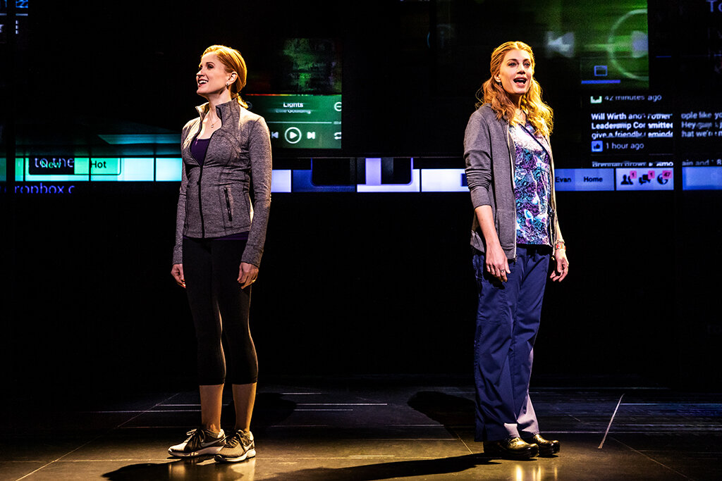 5 - Christiane Noll as 'Cynthia Murphy' and Jessica Phillips as 'Heidi Hansen' in the First North American Tour of Dear Evan Hansen. Photo by Matthew Murphy. 2018.jpg