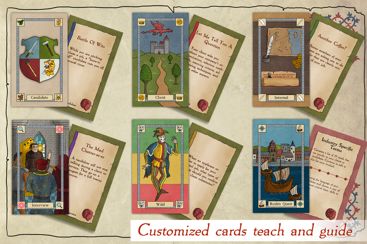 Hundreds of cards - Thousands of possibilities. We have packed the game full of training events, learning moments, and discussion points in the form of high-quality cards.