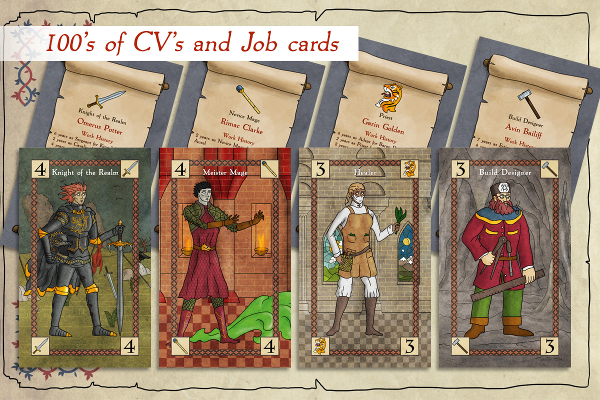 As many CV's - As grains of sand on a beach. Hundreds of CV's for each of the different types of heroes in the game, dozens for each rank of hero!