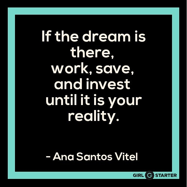 Make your dreams into a reality..👏🏻 . #dreams #workhard #entrepreneur #startup #startit #girlstarter