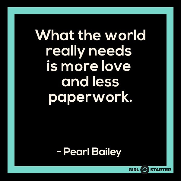Happy Valentine's Day! ❤️ The paper work may be unavoidable as an entrepreneur but make sure you share a little love too! . #entrepreneur #paperwork #valentinesday #girlstarter