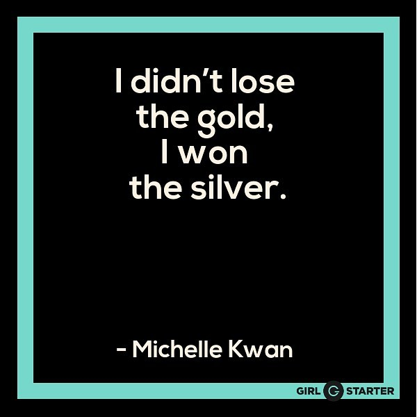 It's reported that bronze medal 🥉winners are often happier than their silver 🥈winning counterparts because they are glad to have placed at all, while it is perceived that silver winners just missed out on the gold. 🥇But as Kwan reminds us, it's all as matter of perspective - look at what you *do* have, not what you *don't* 🏆 . #olympics #challenge #entrepreneur #perspective #proveit #girlstarter
