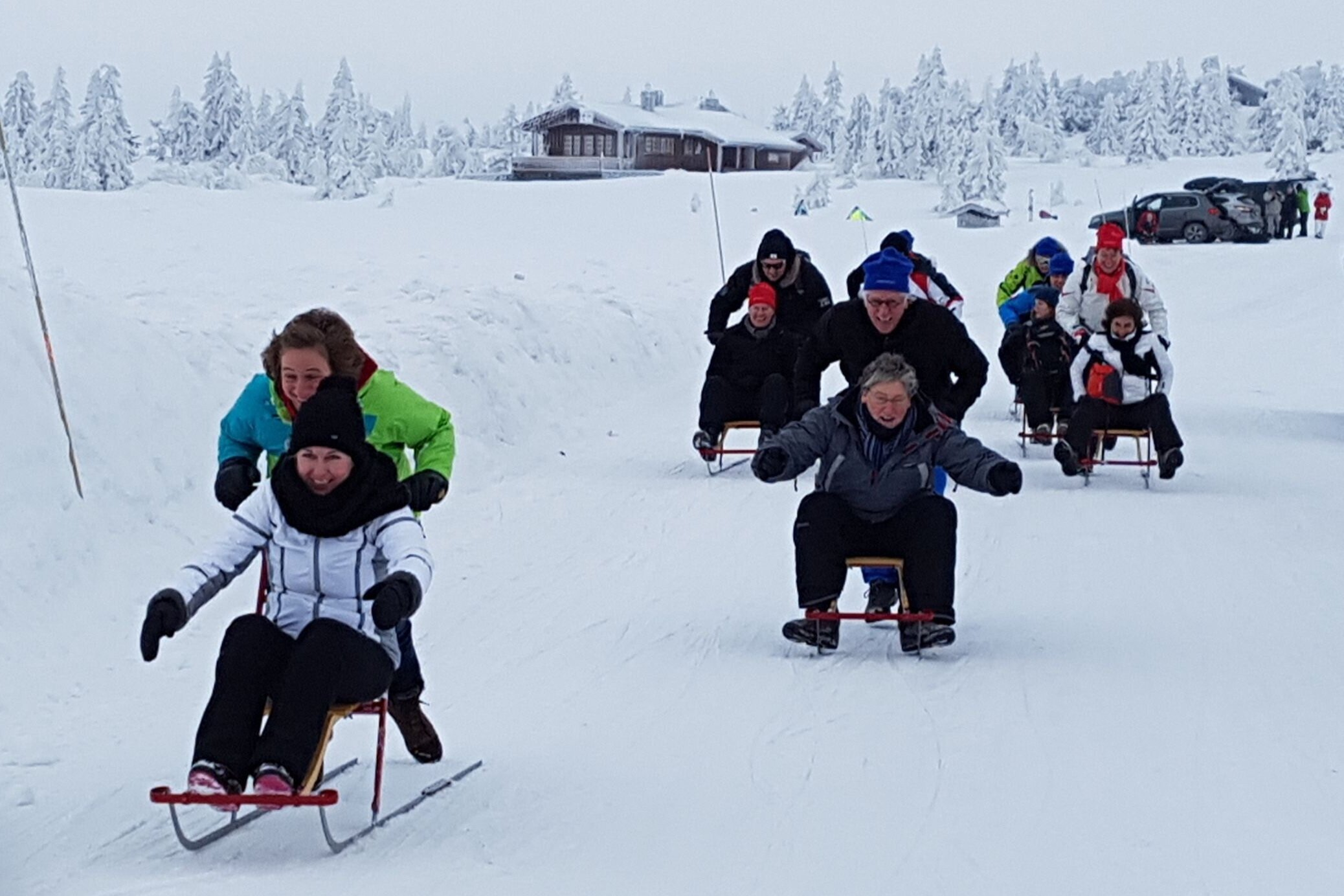 Norwegian kick relay - great fun and keeps the guests warm