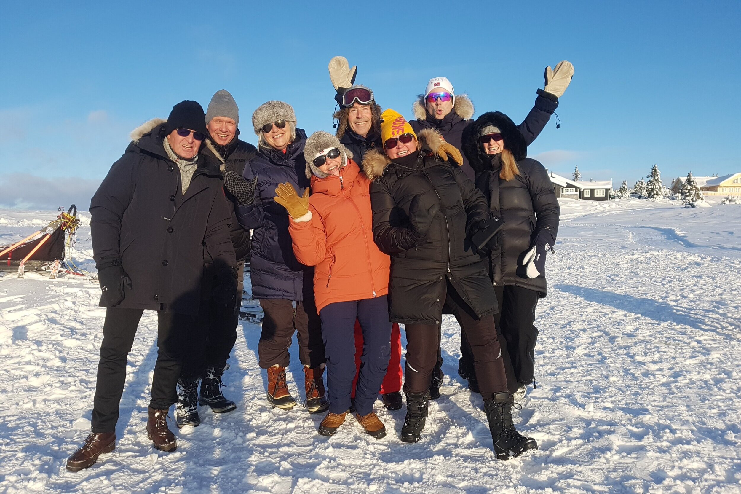 Group Sjusjøen Husky Tours