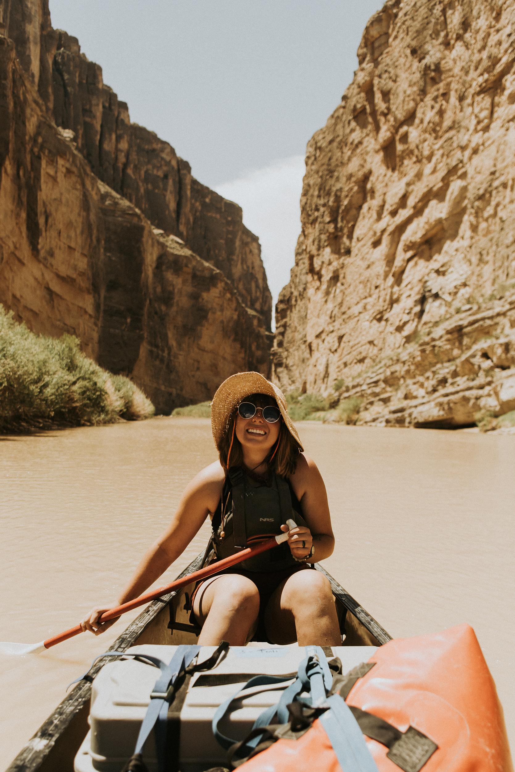 canoeing st. Elena canyon