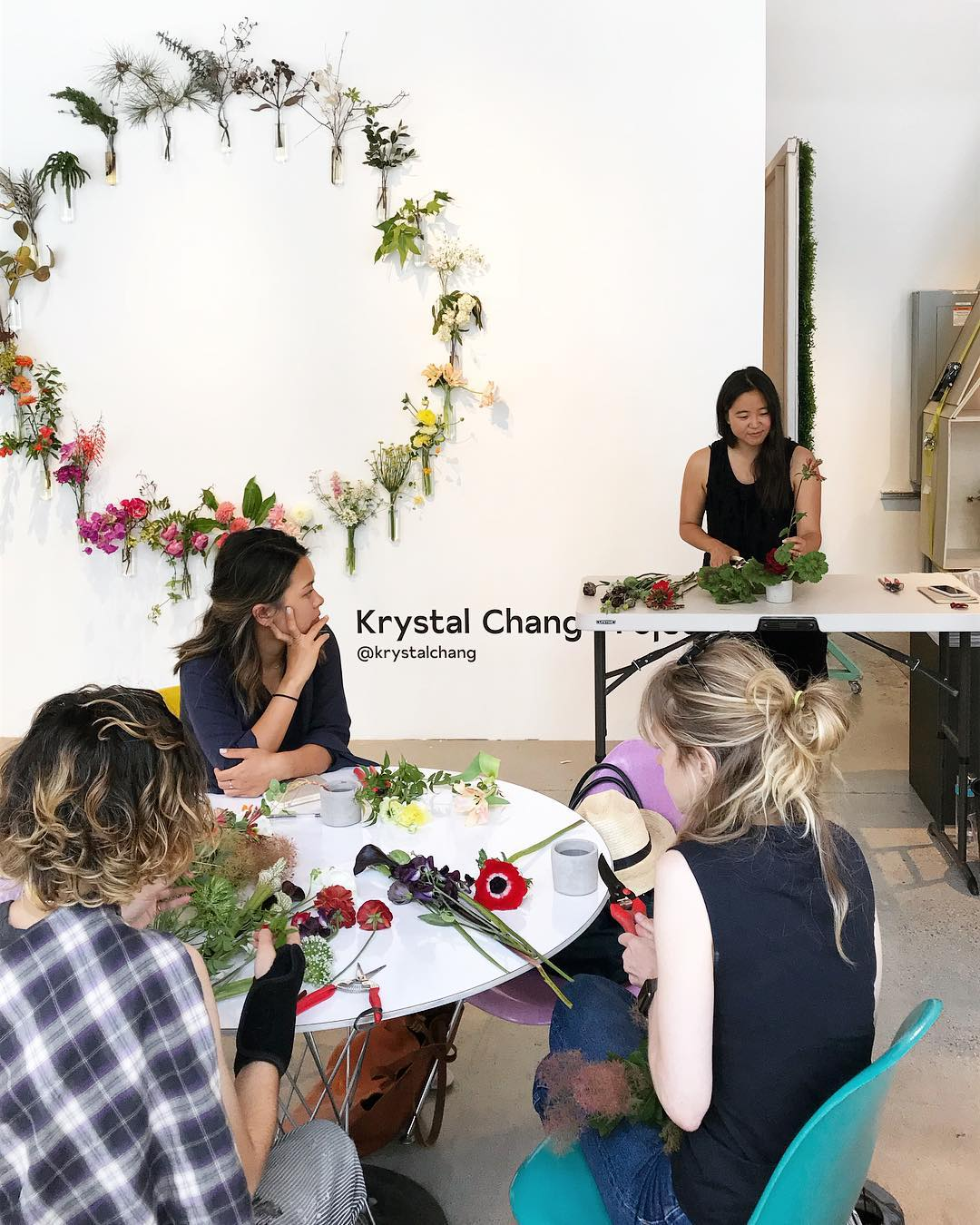 """LA Design Festival Workshops   Guests were encouraged to exercise their own creativity by participating in public workshops, and learn how to create """"freakebana"""" floral arrangements, cheese & charcuterie boards, concrete planters, and more."""