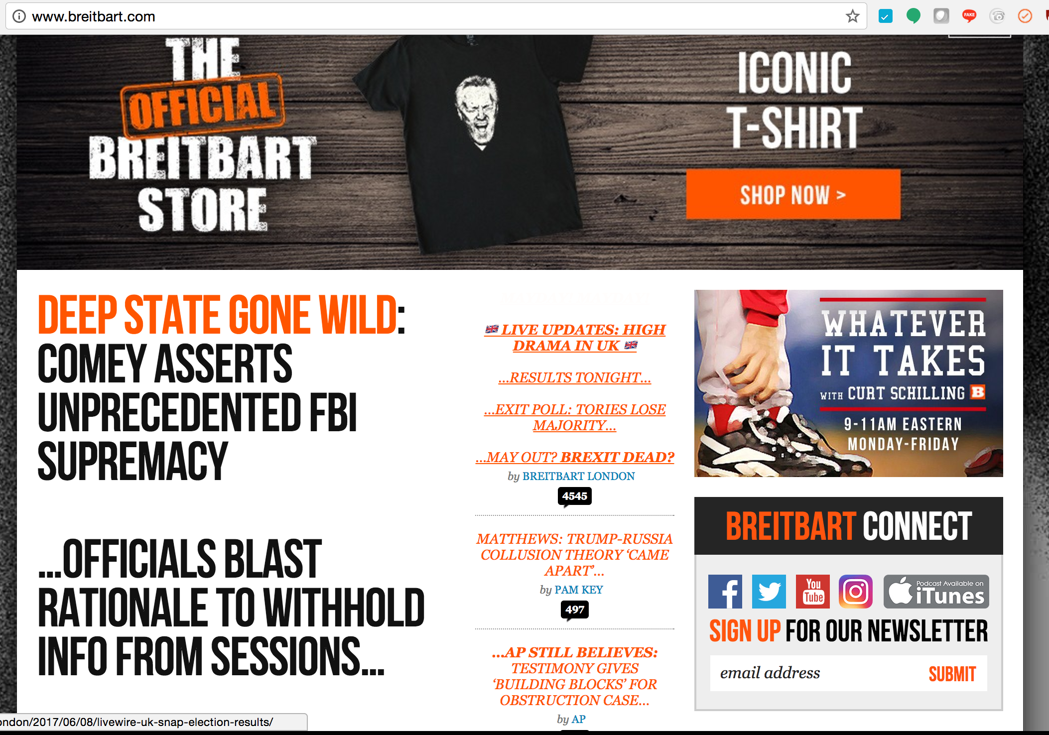 Home Page Breitbart - 6:35pm Thursday, June 8
