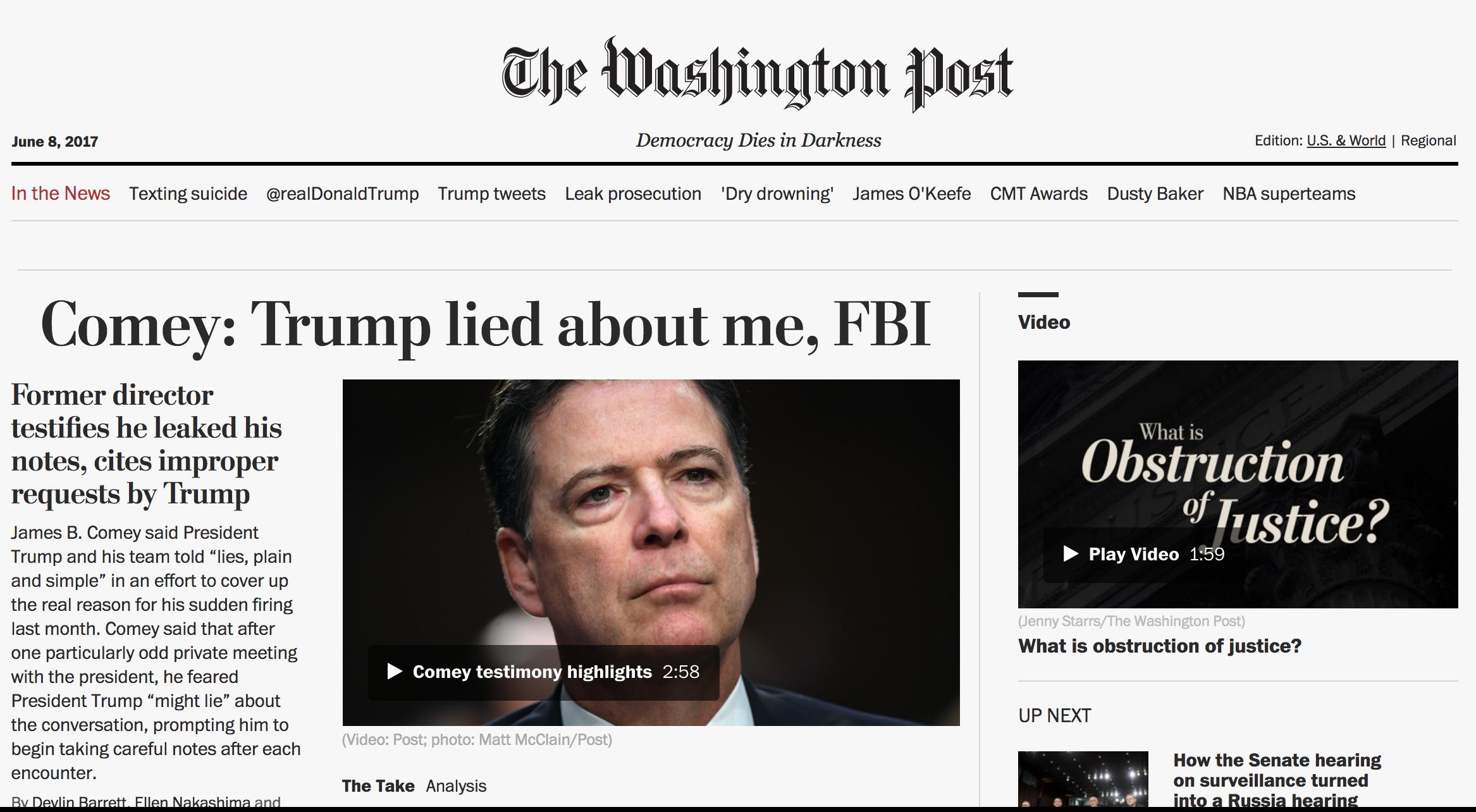 Home Page Washington Post -:35pm Thursday, June 8