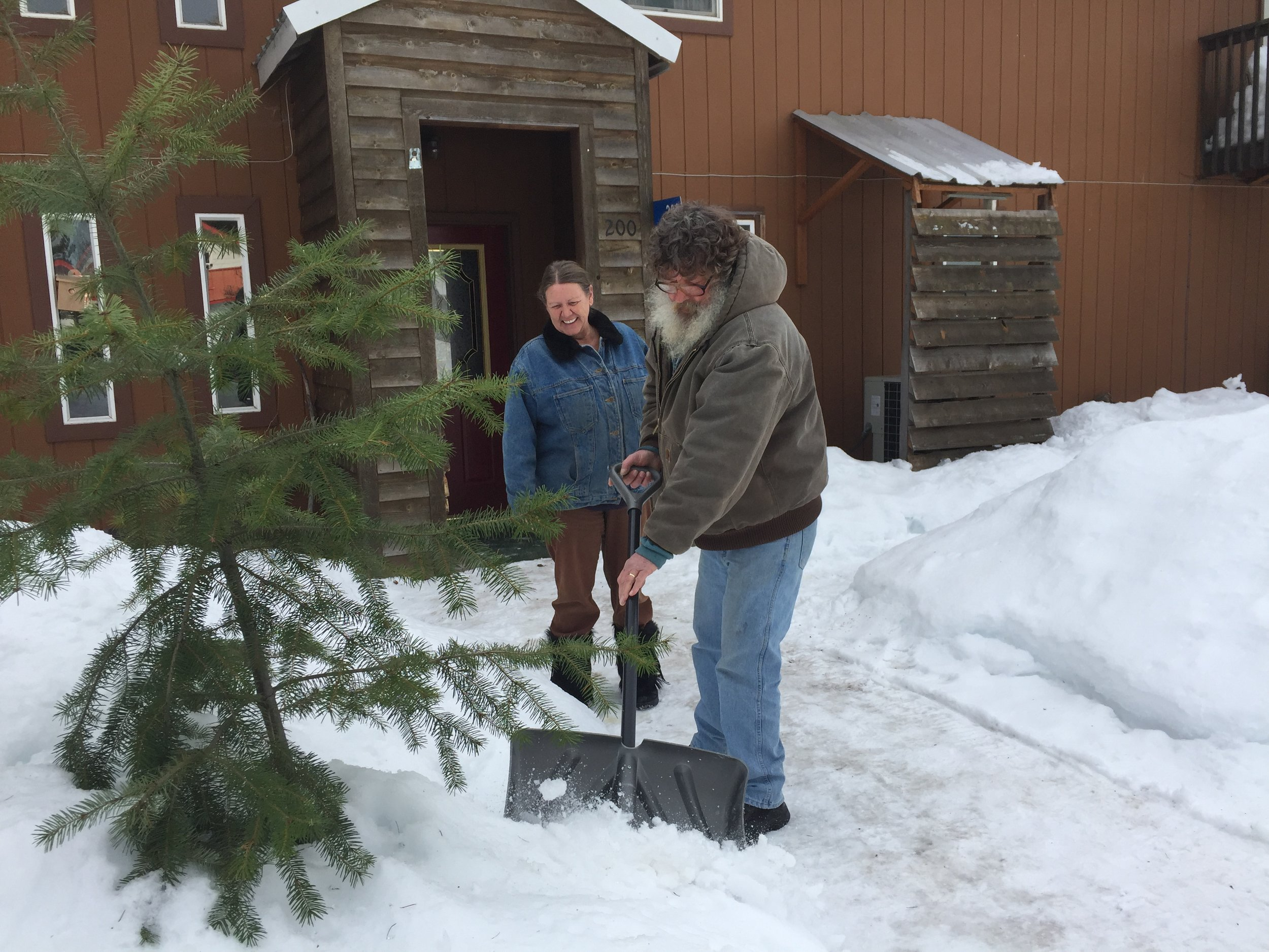 Marvina and Doug Randle dig out from his health care challenges—and a big snow.