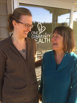 Sondi Koch, PA-C at One Community Health with her patient, Susan Gabay