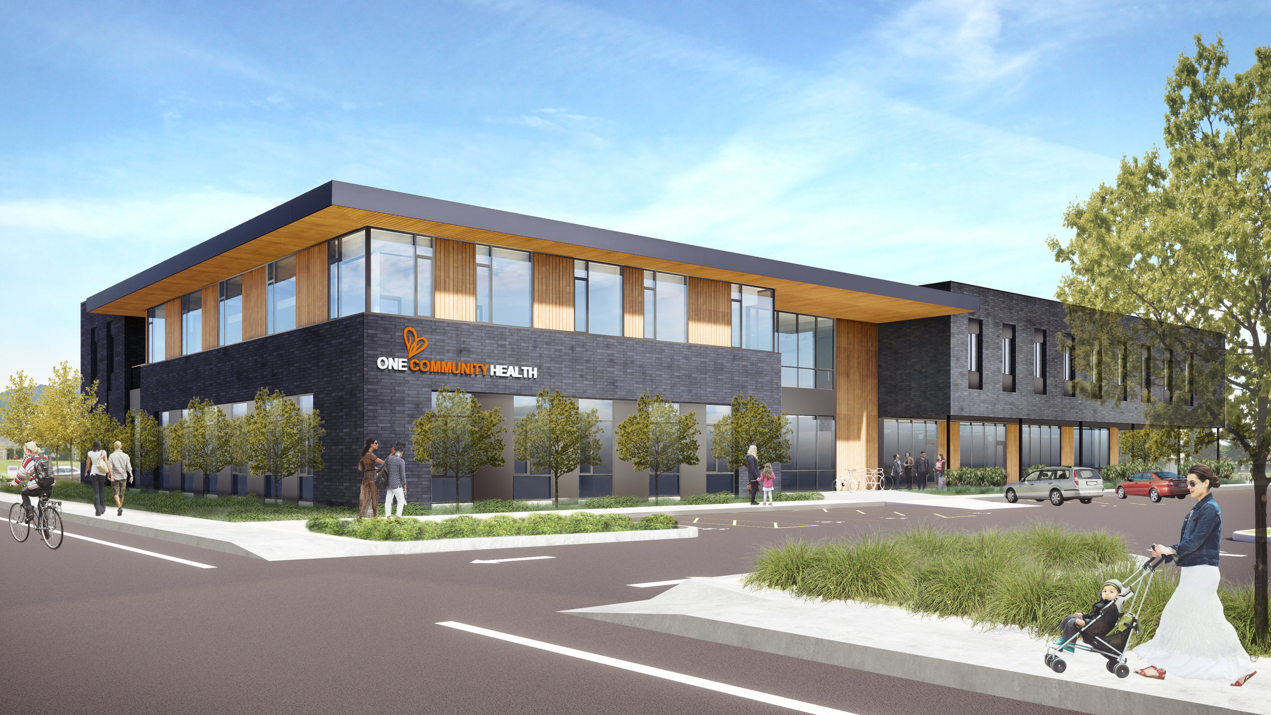 A rendering of the future One Community Health, replacing the current health center in Hood River.