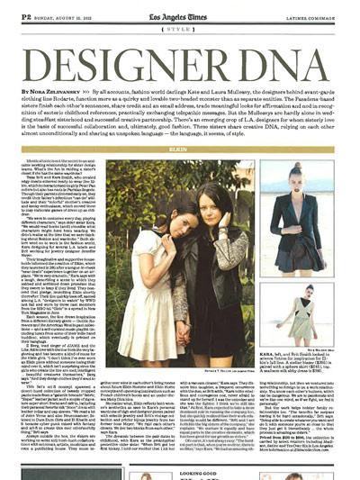 LA TIMES Aug 2012