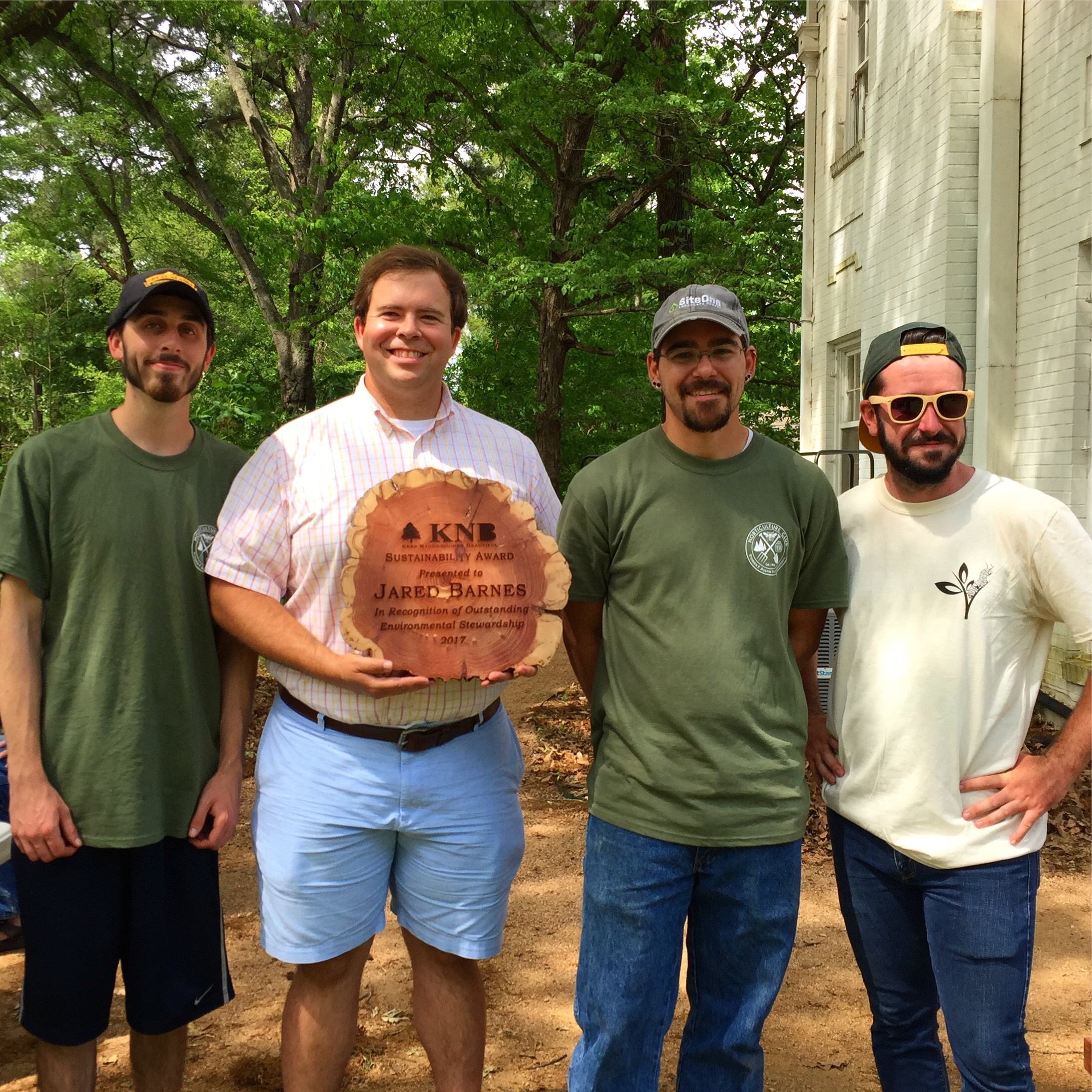 Pictured from left Colin Burke, Jared Barnes, Chisolm Tessem, and John Dilday.
