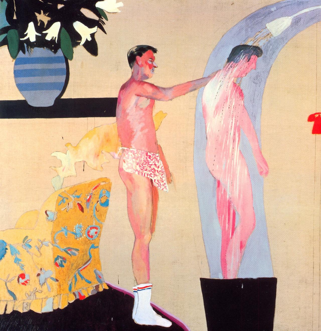 David Hockney,  Domestic Scene, Los Angeles  (1963)