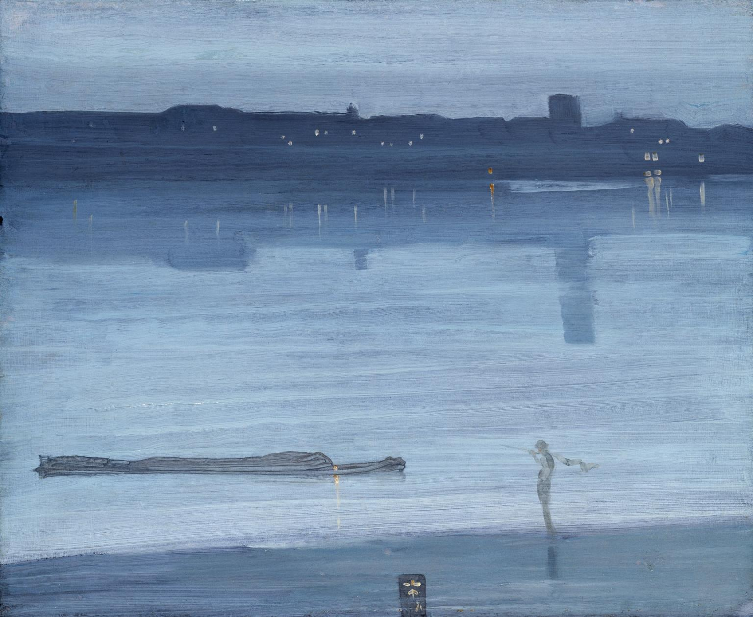 James McNeill Whistler,  Nocturne: Blue and Silver - Chelsea  (1871)