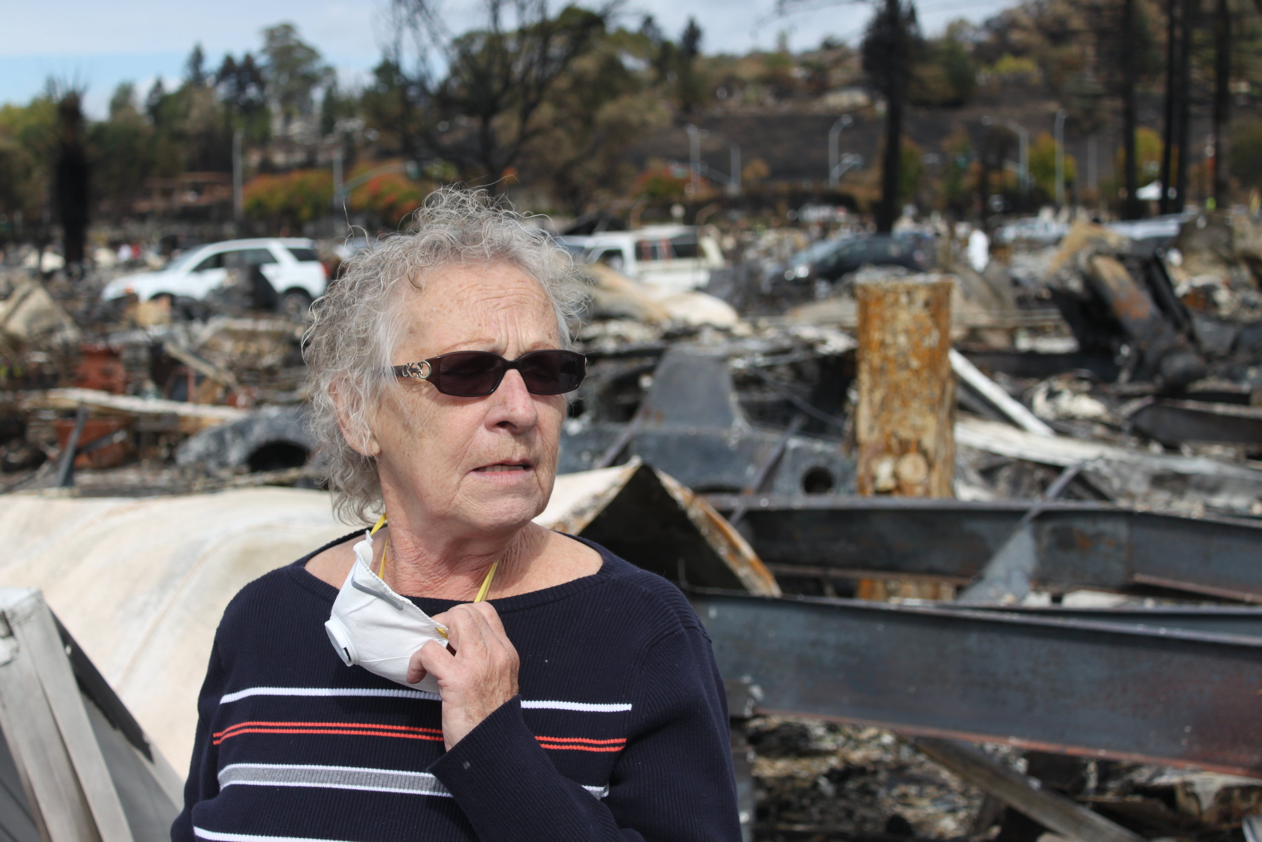 Zealand's grandma Judy takes in the destruction of what used to be her neighborhood.