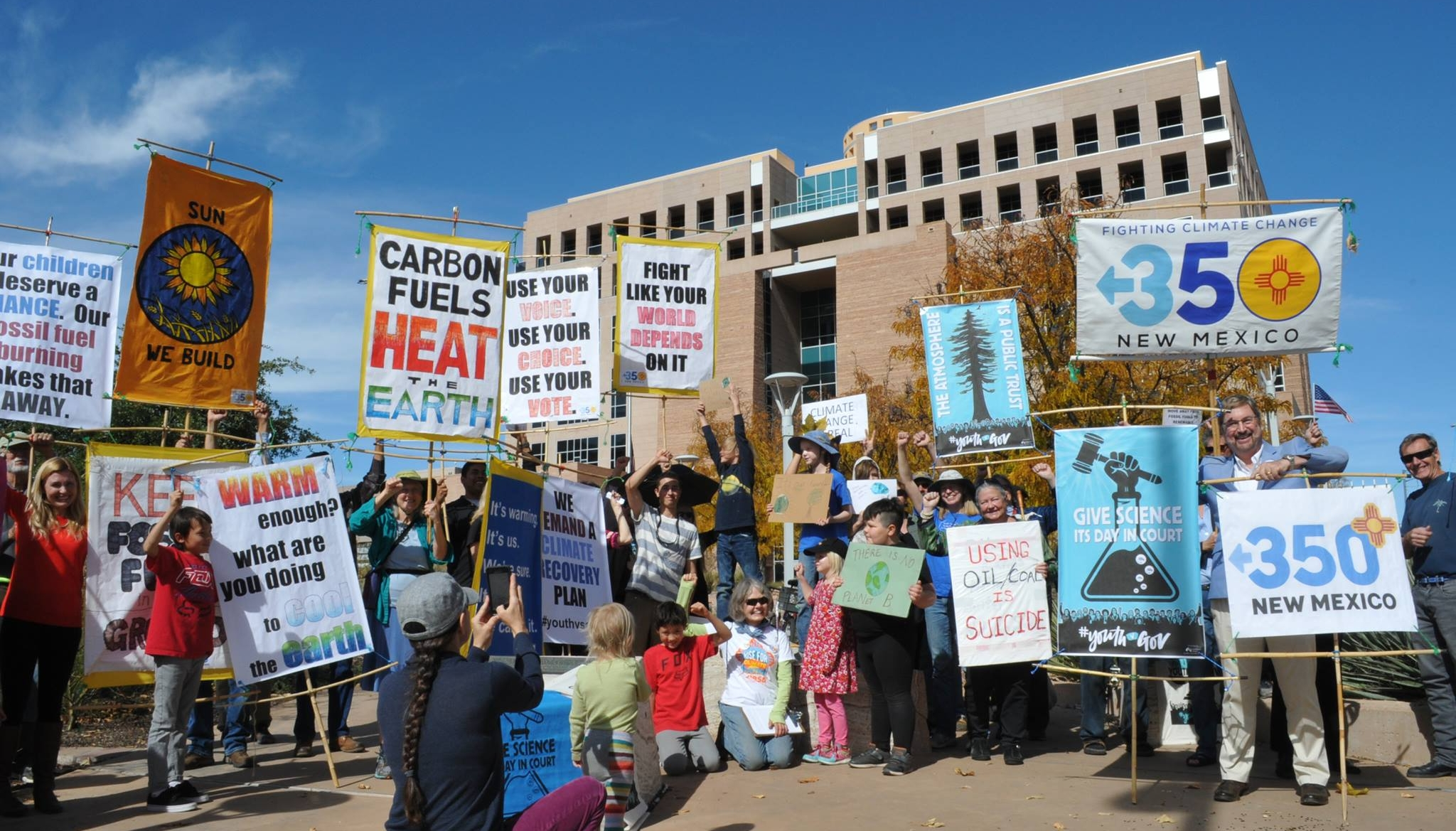 The October 29 rally in Albuquerque, New Mexico to support the  Juliana v United States  plaintiffs on what should have been the first day of their trial.