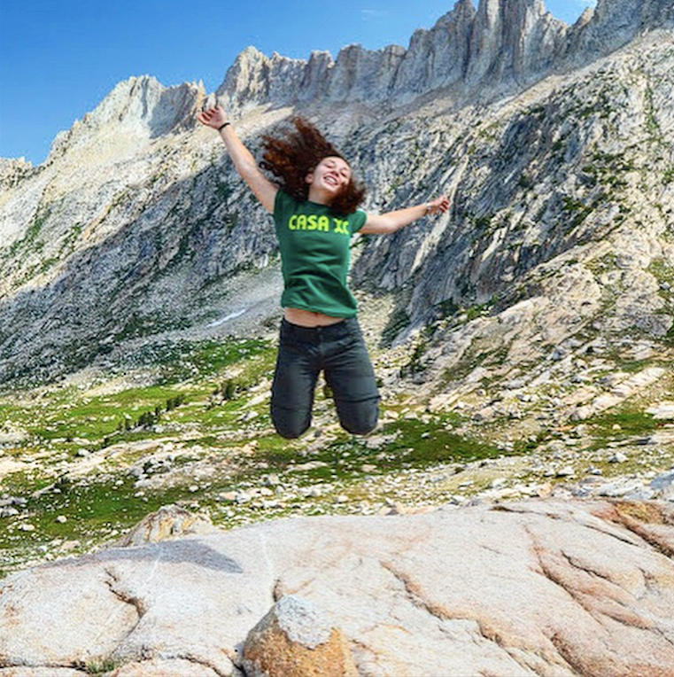 - Lucia, photographed here on the summit of Mule Pass in Yosemite, is a 16-year-old high school junior from Petaluma, California.