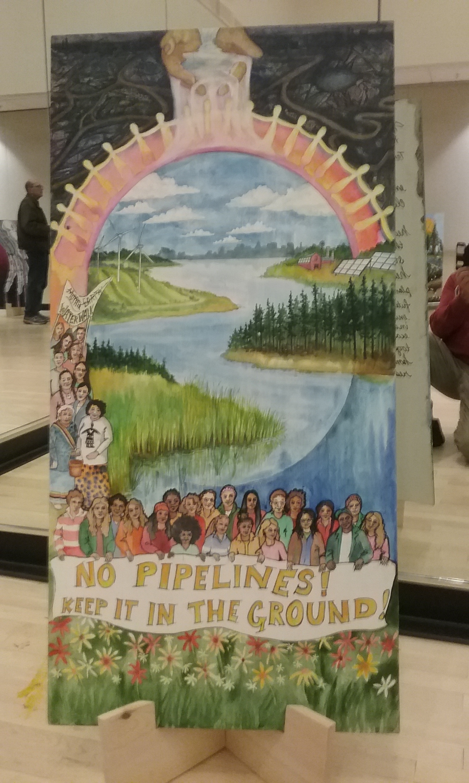 April 2019: A painting by Madison, WI-based artist  Helen R. Klebesadel , inspired by the  Juliana v. United States  plaintiffs. Her's was the last painting in a ten painting exhibit, Tar Sands Storytelling Project, traveling around Wisconsin.