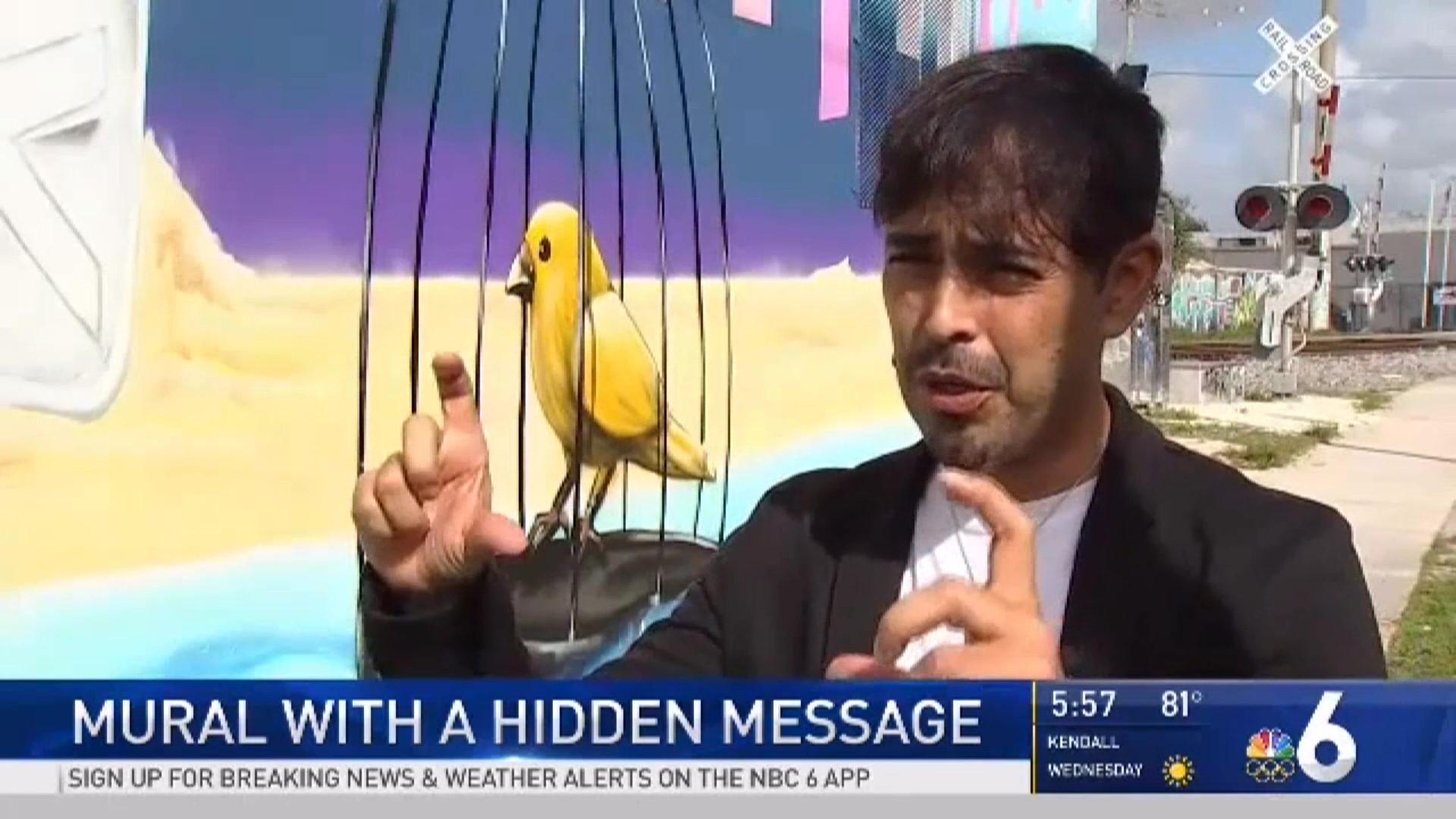 NBC 6 news - Explaining the marker based AR experience.