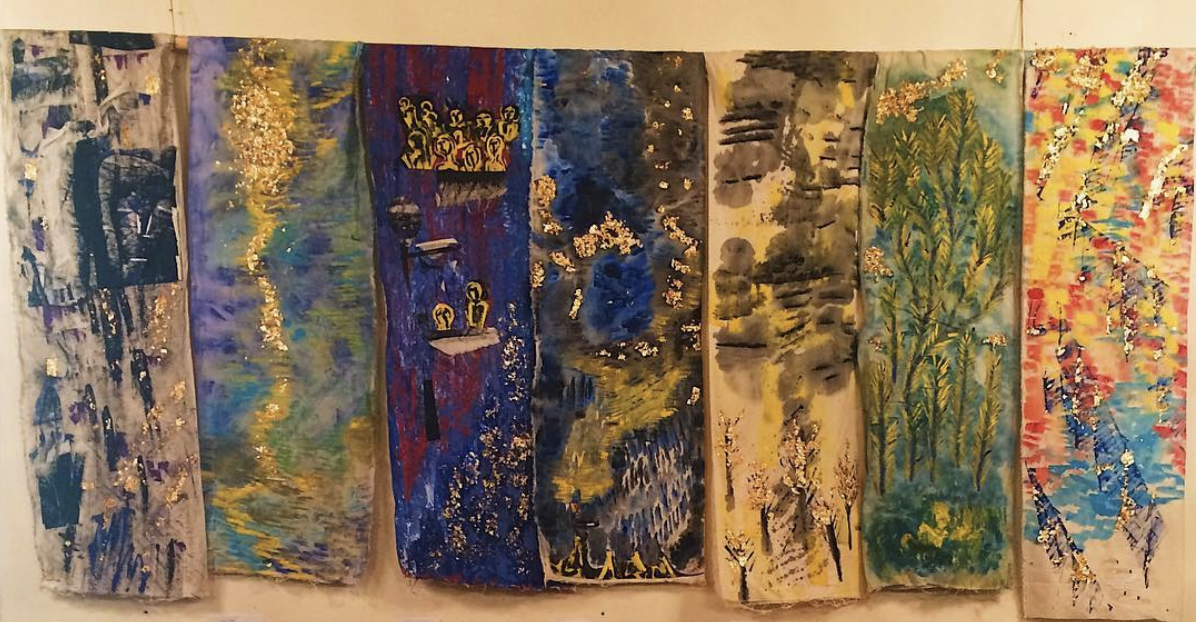 Cosmic Flood: A Visual Lenten Journey on Muslin