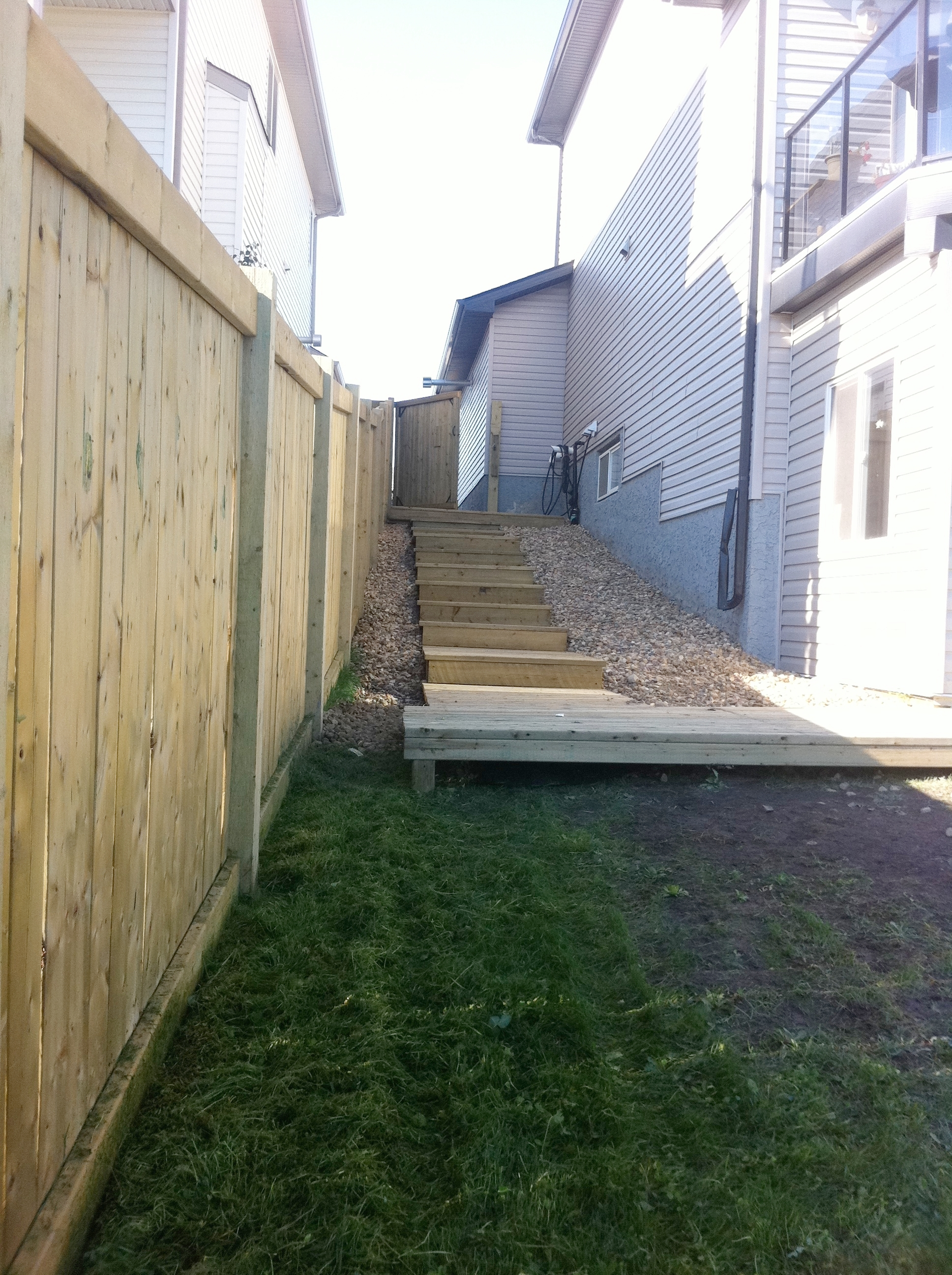 Stairway/Retaining Wall Project - After