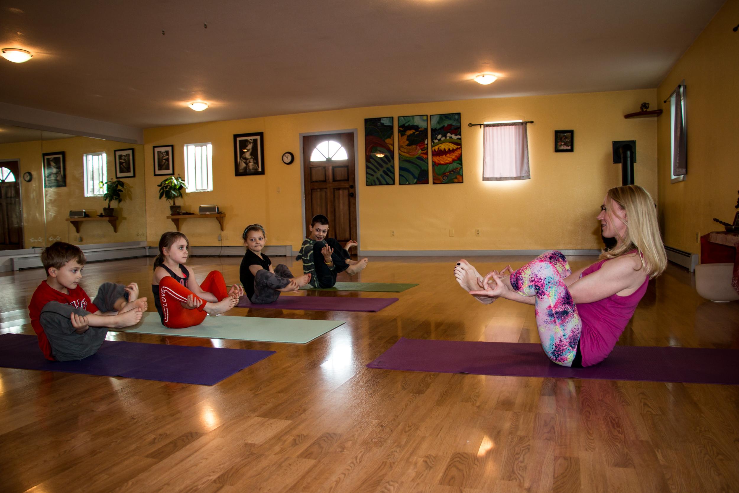 dietrich, yoga teacher, open space, alaska yoga, kids yoga, kidding around yoga