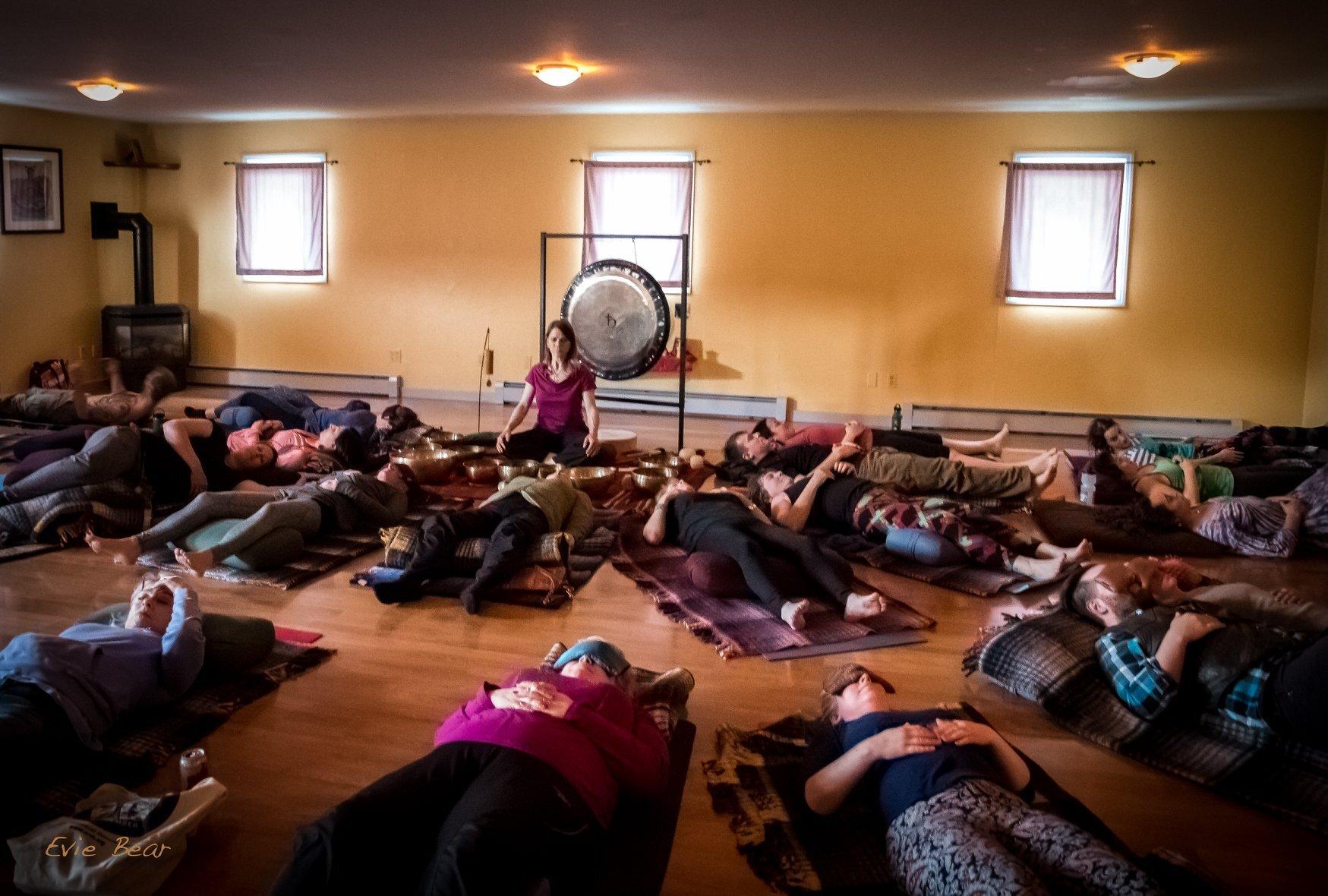 Sound bath. open space alaska. yoga studio. sound healing