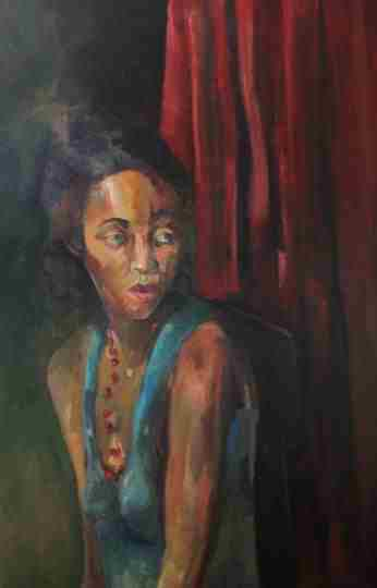 "Oil On Canvas 36""x64"""