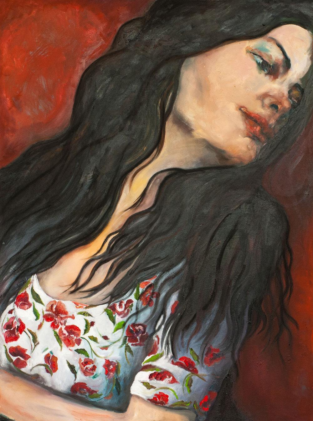 "Farnaz Zabetian Oil on canvas 36""x48"" Sold"