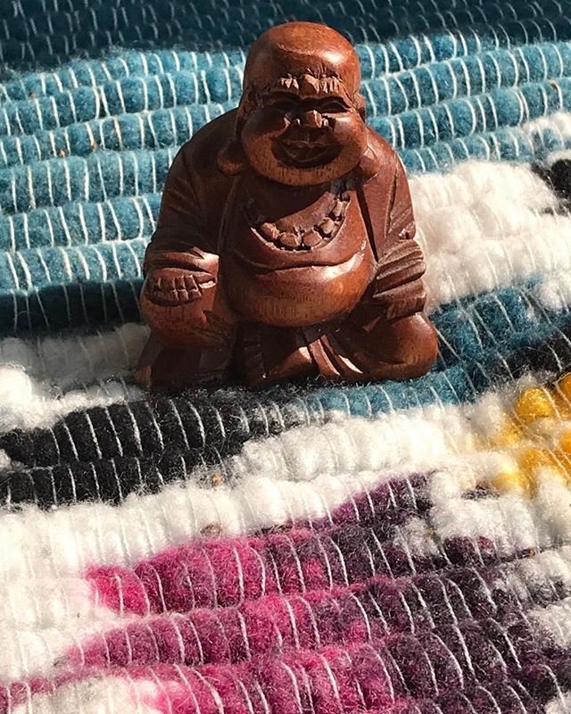 """""""Buddha on a blanket in the sun"""" copyright 2019 Cleveland Edits"""