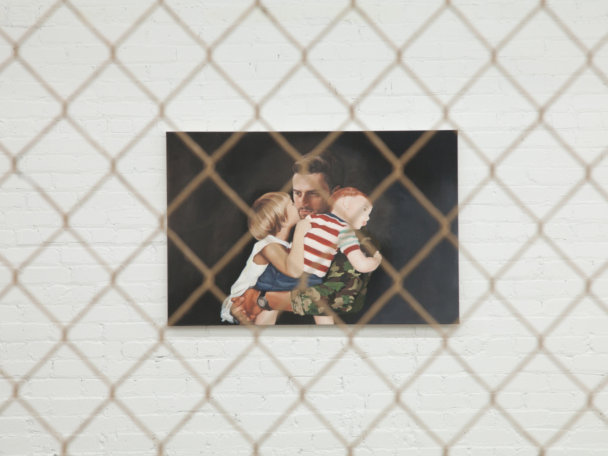 Installation View of  Aspire and Inspire: A Custom Painting of You As A Soldier Returning Home to Your Kids