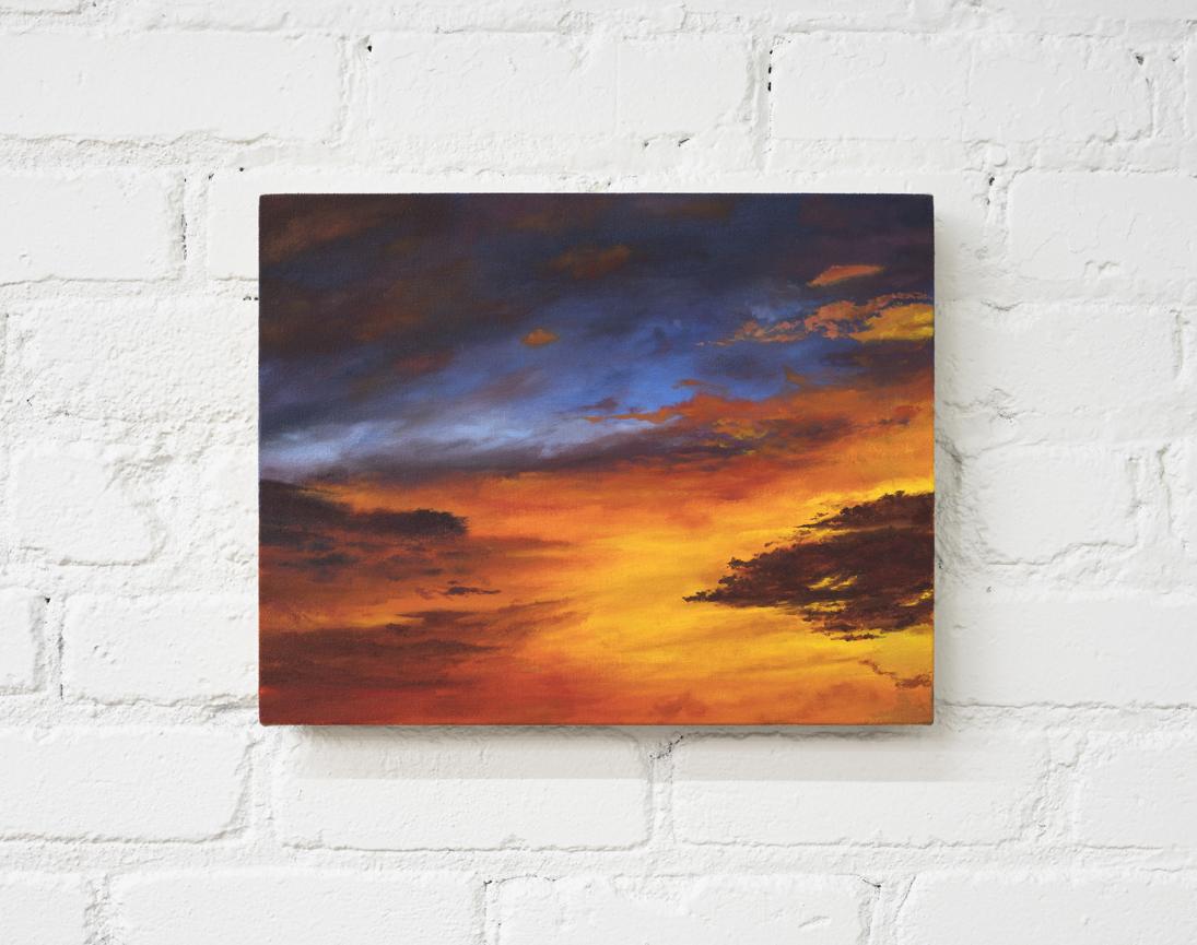 "Brendan Lynch  More Like The Ocean  oil on canvas 2017 1"" x 14"""
