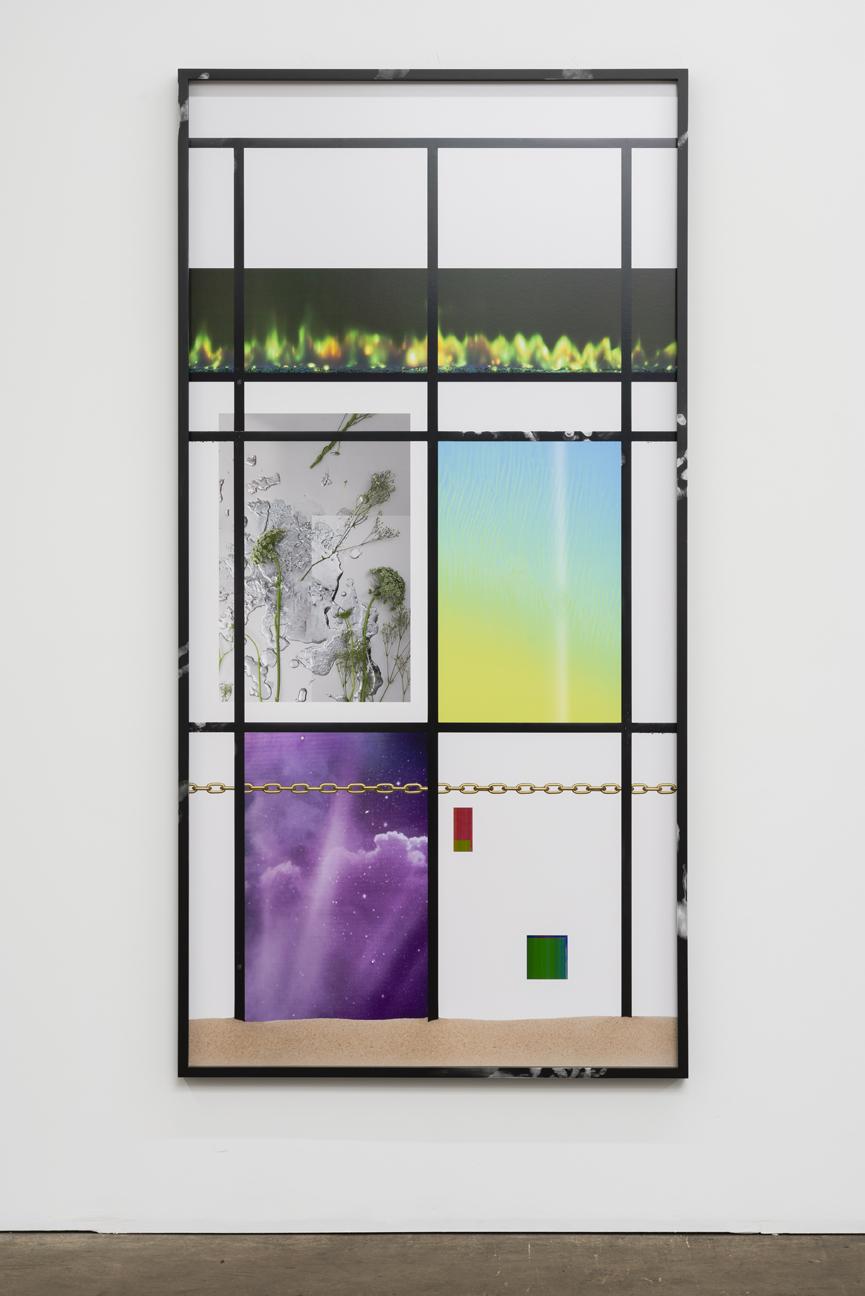 """Joshua Citarella  Hourglass in Lattice Configuration  C-print in artist's frame with silicon powder 2015 2"""" x 36"""""""