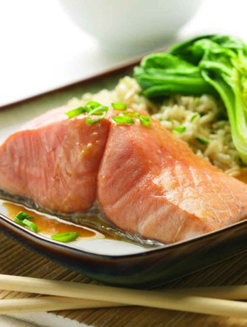 Wild BC Chum Salmon with Soy Wasabi Glaze