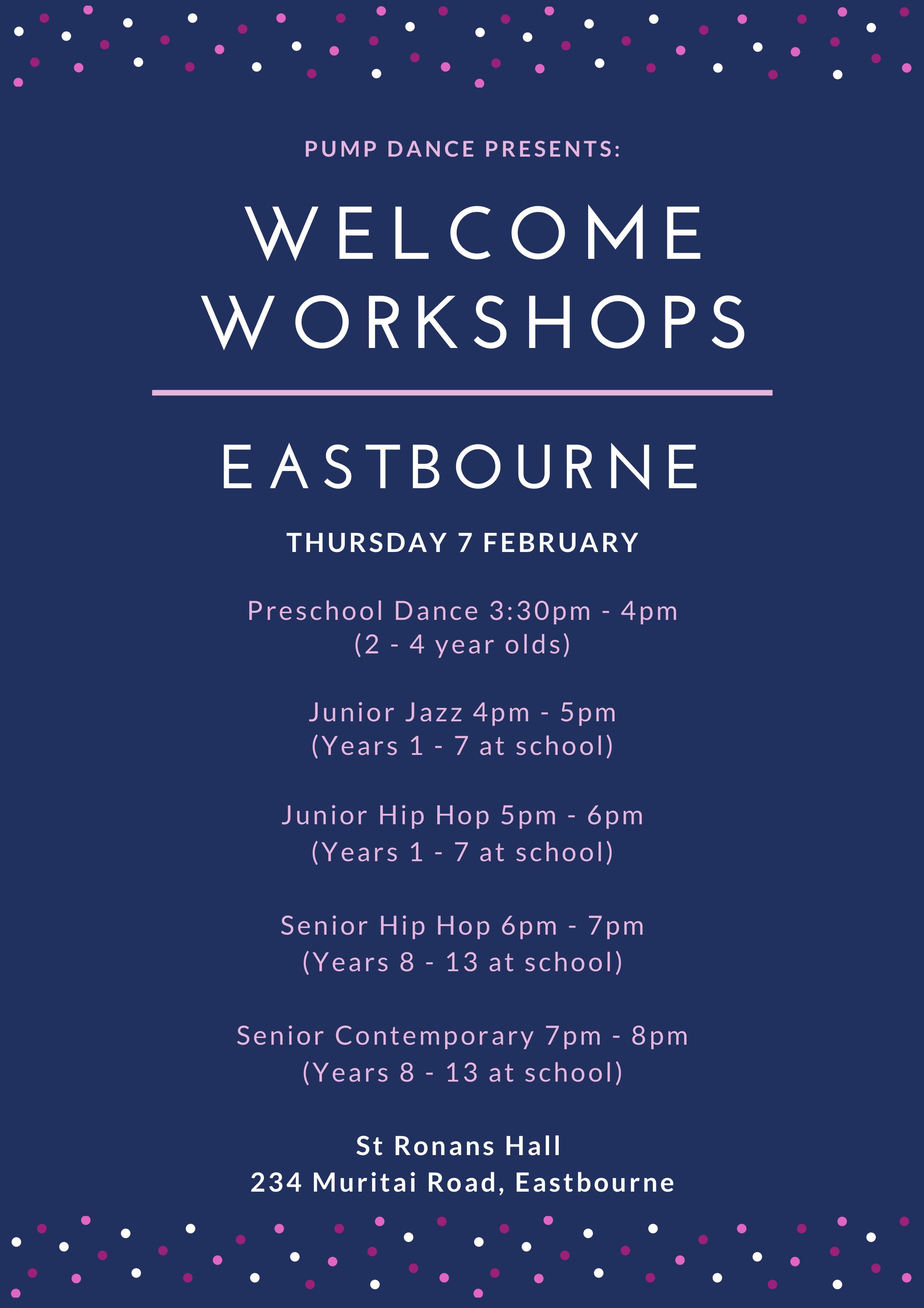 Pump Dance Eastbourne Welcome Workshops 2019