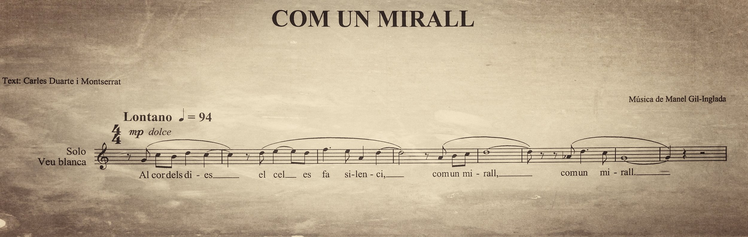Com un mirall_Score