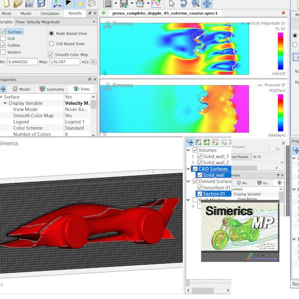 SimericsMP - SimericsMP è un software di simulazione con una architettura completamente adattiva. Risolve problemi di fluidodinamica computazionale (CFD) e comprende funzionalità avanzate per il calcolo di problemi multidisciplinari.