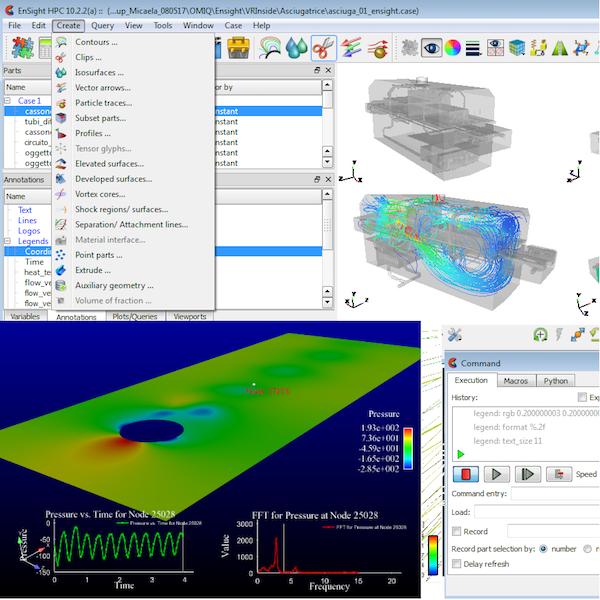 Ensight - Ensight è il software leader per l'analisi e la visualizzazione avanzata di risultati di simulazioni al calcolatore.