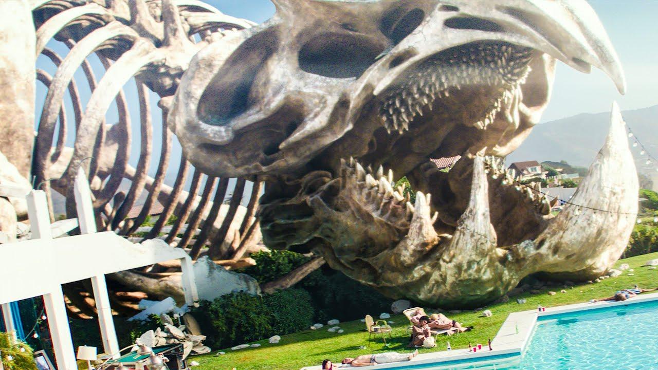 Kaiju Skeleton at Pentacost Mansion